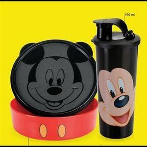 Tupperware Cereal plate & Tumbler Disney Mickey